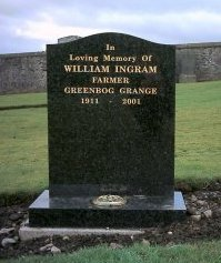 William Ingram's headstone
