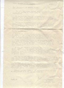 Stand-down letter - Douglas, click for full size image